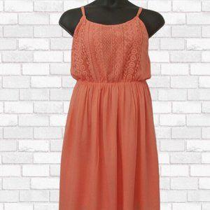 ➕ Rue 21 Plus Orange Lace Bodice Dress - Size 1X